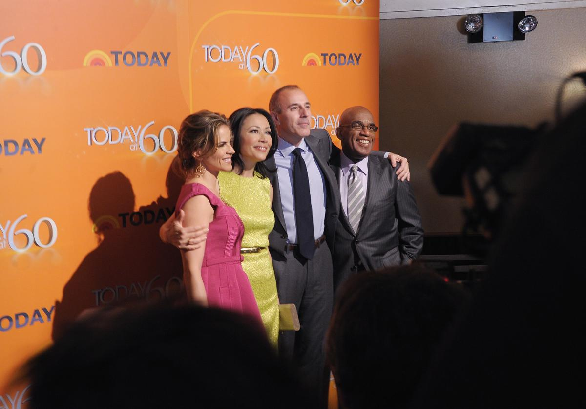 'TODAY' Show correspondents Natalie Morales, Ann Curry, Matt Lauer and Al Roker attend the 'TODAY' Show 60th anniversary celebration at The Edison Ballroom on January 12, 2012 in New York City.