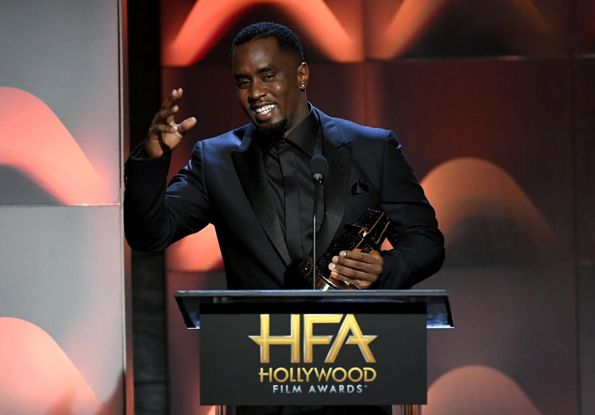 Honoree Sean Combs accepts the Hollywood Documentary Award for 'Can't Stop, Won't Stop: A Bad Boy Story' onstage during the 21st Annual Hollywood Film Awards at The Beverly Hilton Hotel on November 5, 2017 in Beverly Hills, California
