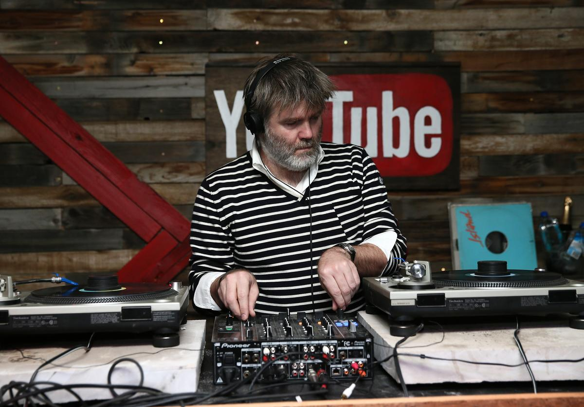 Singer-songwriter and producer James Murphy performs during the YouTube on Main Street Party on January 18, 2014 in Park City, Utah