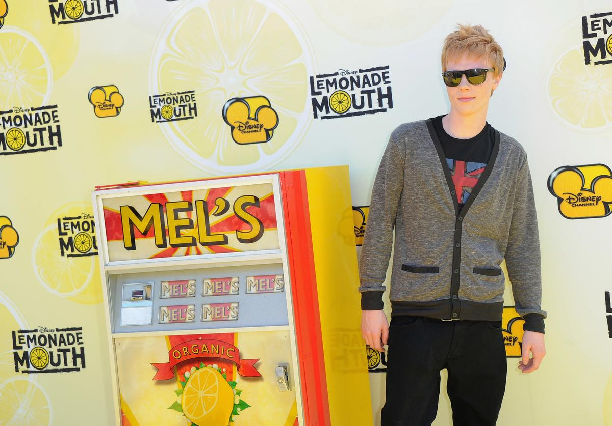 Actor Adam Hicks arrives to the premiere of Disney Channel's 'Lemonade Mouth' at Stevenson Middle School on April 12, 2011 in Los Angeles, California.