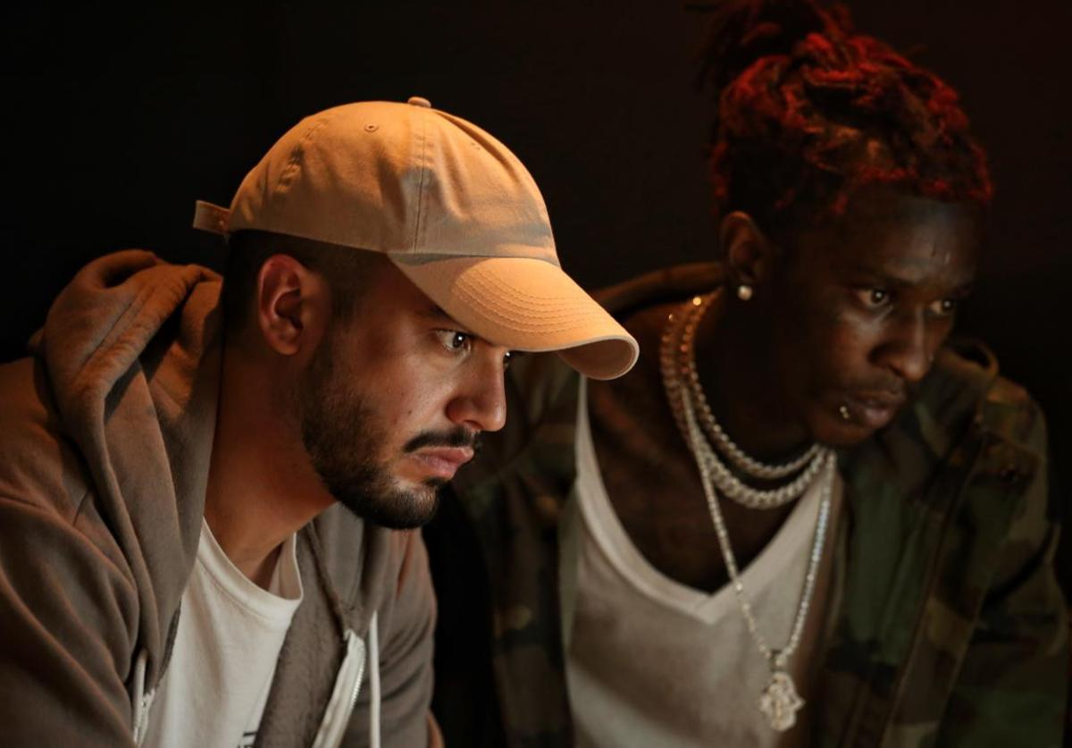 Alex Tumay and Young Thug in the studio together