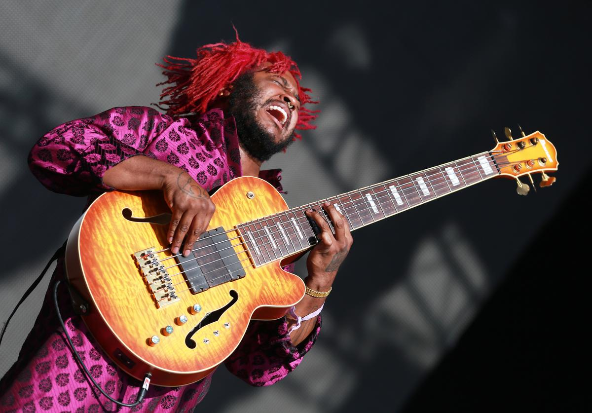 Thundercat performs onstage during day 2 of FYF Fest 2017 at Exposition Park on July 22, 2017 in Los Angeles, California.