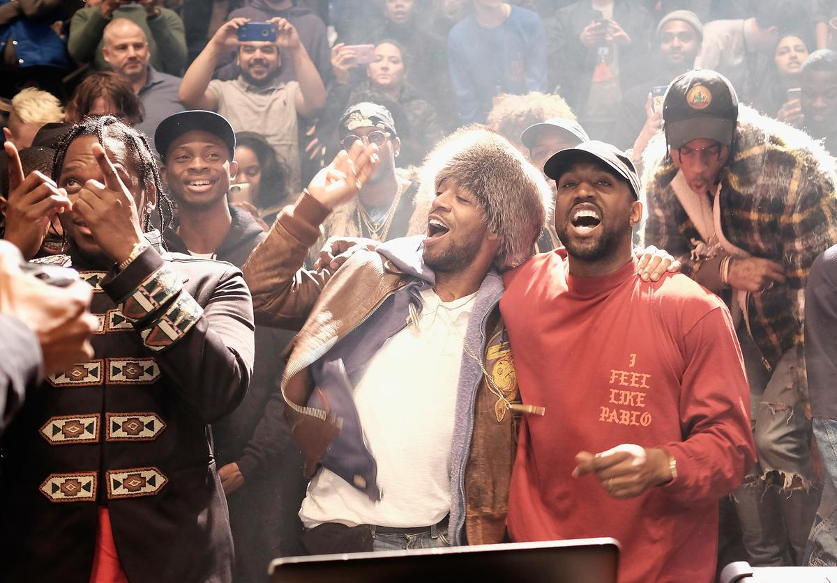 Kanye West & Kid Cudi at Life Of Pablo listening party
