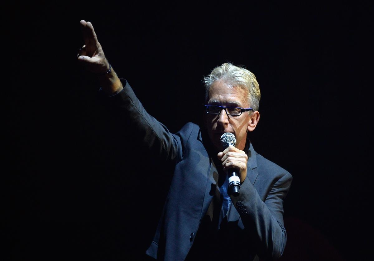 Comedian Andy Dick performs onstage at the 4th Annual Light Up The Blues at the Pantages Theatre on May 21, 2016 in Hollywood, California.