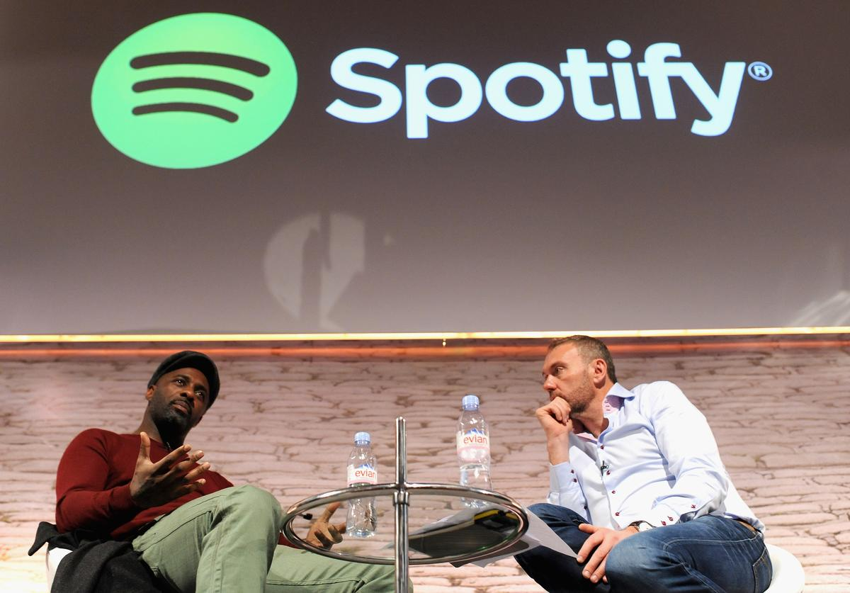 Idris Elba and Chris Maples For Spotify