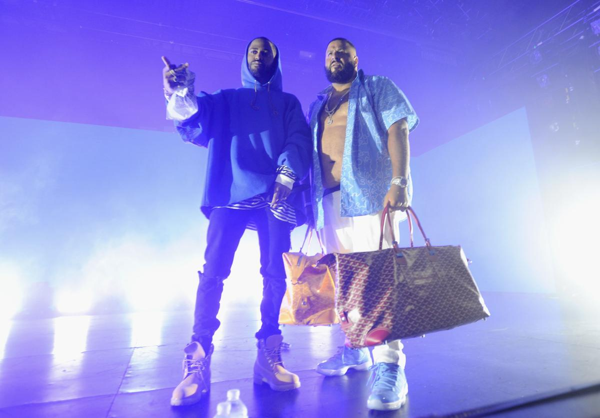 Big Sean and DJ Khaled perform on stage at the Bud Light Party Convention at PlayStation Theater on August 27, 2016 in New York City