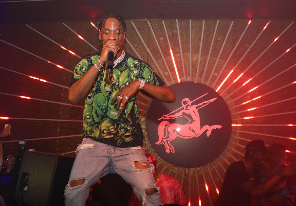 Travis Scott performs during MVP Weekend with Travis Scott at Avenue Los Angeles presented by Remy Martin on February 16, 2018 in Los Angeles, California.