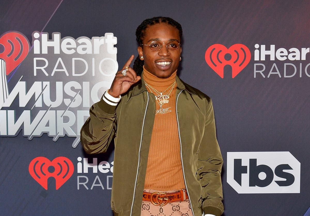 Jacquees arrives at the 2018 iHeartRadio Music Awards which broadcasted live on TBS, TNT, and truTV at The Forum on March 11, 2018 in Inglewood, California