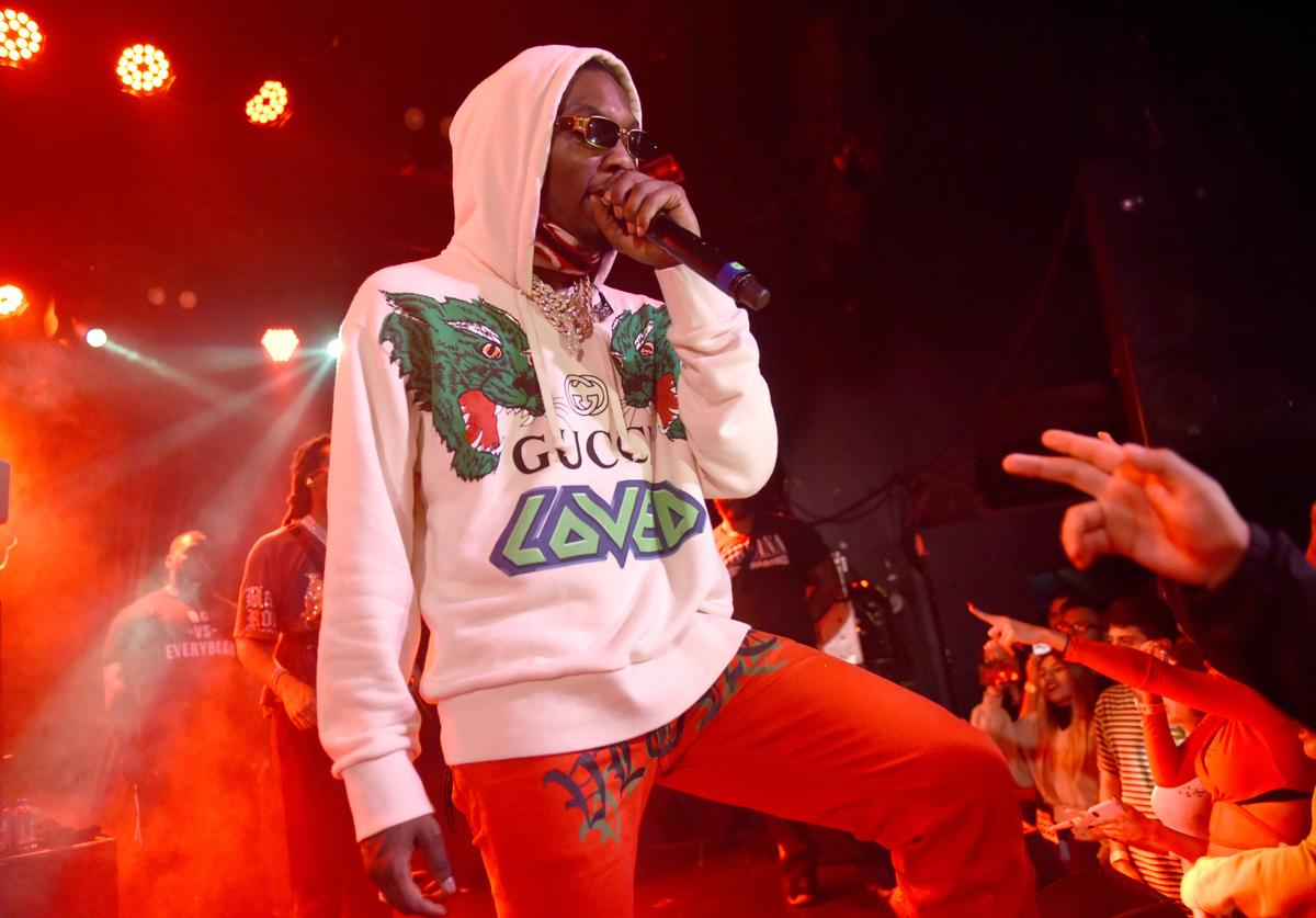 Offset of Migos performs at Migos Exclusive World Series Event at the Roxy on October 28, 2018 in Los Angeles, California