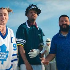 "DJ Khaled Wrestles An Alligator As 21 Savage & Justin Bieber Watch In ""LET IT GO"" Video"