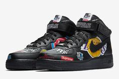Supreme x NBA x Nike Air Force 1 Official Images Revealed