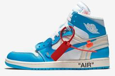 "Off-White x Air Jordan 1 ""UNC"" Official Images & Release Info Revealed"