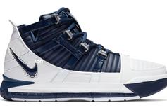 Nike LeBron 3 Returning In White/Navy Colorway This Month