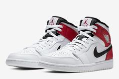 """Air Jordan 1 Mid Offers Up A Remix On The """"Chicago"""" Colorway"""