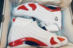 "Air Jordan 14 Rip Hamilton ""Candy Cane"" PE Detailed Images"
