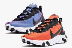 """Nike React Element 55 """"Sunrise And Sunset"""" Pack Images & Details"""