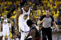 """Steve Kerr Unimpressed With Kevin Durant's Ejection In Game 1: """"We Took The Bait"""""""