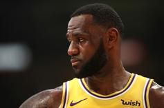 """LeBron James Flexes Unreleased Nike Air Fear Of God 1 """"Frosted Spruce"""""""