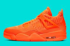 "Air Jordan 4 Flyknit ""Orange"" Release Date, Official Images"