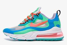 "Nike Air Max 270 React ""Blue Lagoon"" Drops In July, Detailed Images"