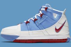 """Nike Zoom LeBron 3 QS """"Houston Oilers"""" Drops This Week, Official Images"""