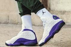 "Air Jordan 13 ""Lakers"" Debuts Today: Purchase Links"
