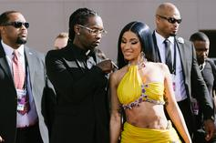 """Offset Welcomes Cardi B & Baby Kulture On Stage For """"Clout"""" Performance: Watch"""