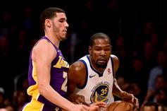 Kevin Durant Delivers High Praise To Lonzo Ball Ahead Of NBA Season