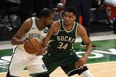 """Giannis Antetokounmpo Praises Kevin Durant: """"I Looked Up To Him My Whole Life"""""""