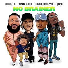 "DJ Khaled Goes Hip-Pop With Quavo, Justin Bieber & Chance The Rapper On ""No Brainer"""