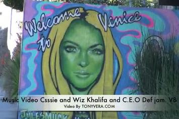 "Wiz Khalifa ""Behind The Scenes of ""Roll Up"" Video Shoot with Cassie"" Video"