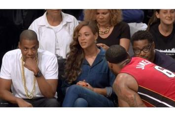 Jay Z & Beyonce Sit Courtside At Nets Vs. Heat Game Monday Night