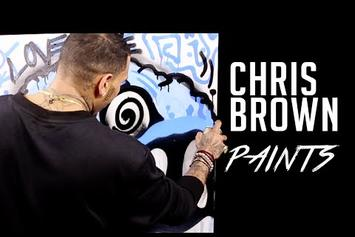 Chris Brown Spray Paints For Hot 97, Talks About His Art