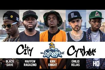 "Emilio Rojas, Maffew Ragazino, Black Dave, HD & Kirk Knight ""DJBooth City Cypher #1"" Video"