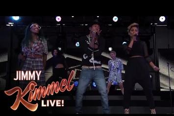 """Pharrell Performs """"Come Get It Bae"""" On Jimmy Kimmel"""