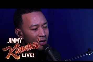 "John Legend Performs ""All Of Me"" On Jimmy Kimmel"