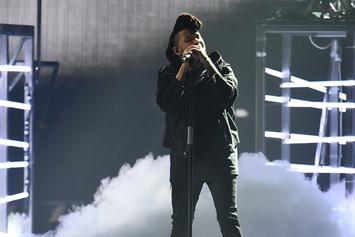 "The Weeknd Performs ""The Hills"" Live At The 2016 BRIT Awards"