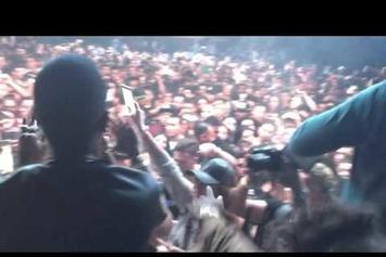 "Juicy J Performs Unreleased Travi$ Scott Collab, ""No English,"" In L.A."