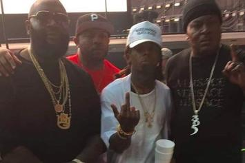 Lil Wayne Takes Picture With Rick Ross & Trick Daddy