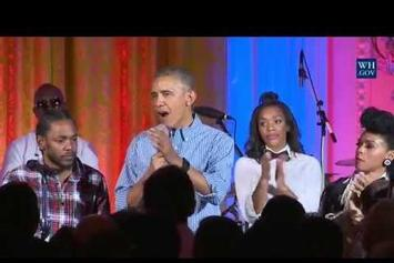 "Kendrick Lamar & Janelle Monae Help President Obama Sing ""Happy Birthday"" To His Daughter"