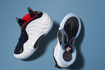 "Release Reminder: The ""Olympic"" Nike Air Foamposite One Releases Tomorrow Morning"
