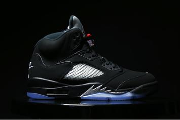 "Release Reminder: ""Black/Metallic Silver"" Air Jordan 5 Returns Tomorrow"