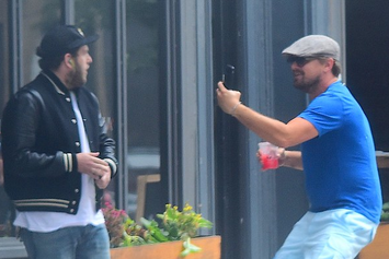 Watch Leonardo DiCaprio Run Up On Jonah Hill Like A Crazed Fan