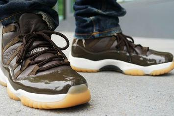 "Anthony Hamilton Shows Off His 1-Of-1 ""Chocolate"" Air Jordan 11"