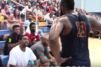 Heckler Blasts James Harden For Flopping During Drew League Game