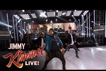 """Usher Performs """"No Limit"""" With Fans From All Around The World On Kimmel"""