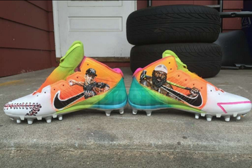 Antonio Brown's Custom Cleats Honor Jose Fernandez And Kimbo Slice