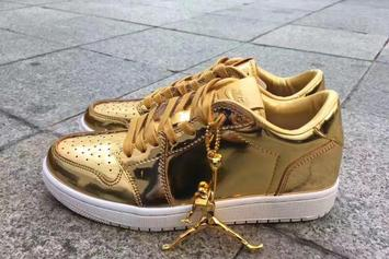 "A Pinnacle ""Metallic Gold"" Air Jordan 1 Low Is In The Works"
