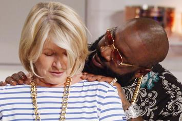 "Watch Rick Ross Flirt With Martha Stewart On ""Martha & Snoop's Potluck Dinner Party"""