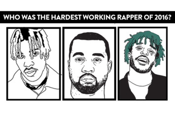Who Was The Hardest Working Rapper Of 2016?
